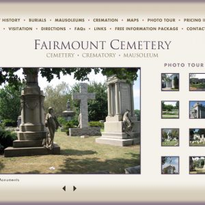 Website for Cemetery located in Newark, NJ