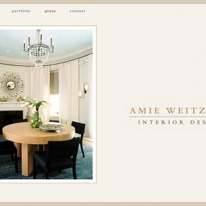Website for Interior Design Firm located in New York City. Won and American Graphic Design Award.