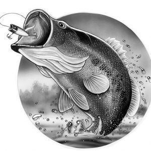 T-Shirt Design for Bass Fishing for GI Apparel