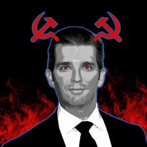 Editorial Illustration about Donald Trump Jr.'s Russian Connection