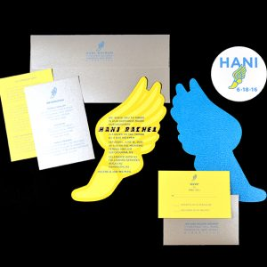 Logo, Invitation and Sticker Designs for Bat Mitzvah