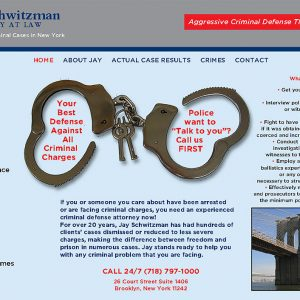 Website Design for Criminal Attorney Located in Brooklyn, NY