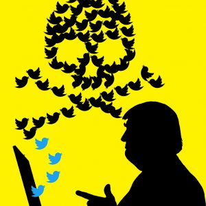 Editorial Illustration about Trump's Use of Twitter