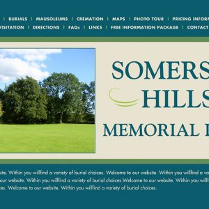 Website for Cemetery located in Basking Ridge, NJ